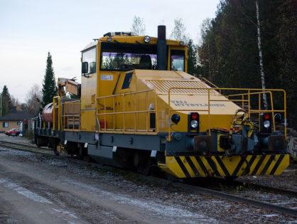 Локомотив N Venturi TTM1 с платформой и краном, 1991 год, масса 64т, 1520мм